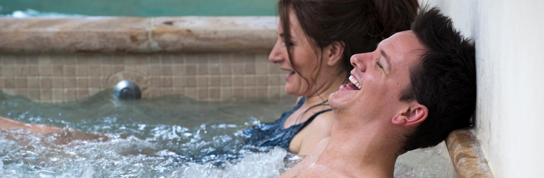 Couple Enjoying Spa